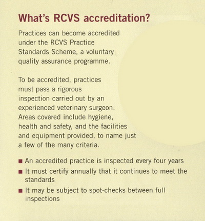 What is RCVS accreditation?